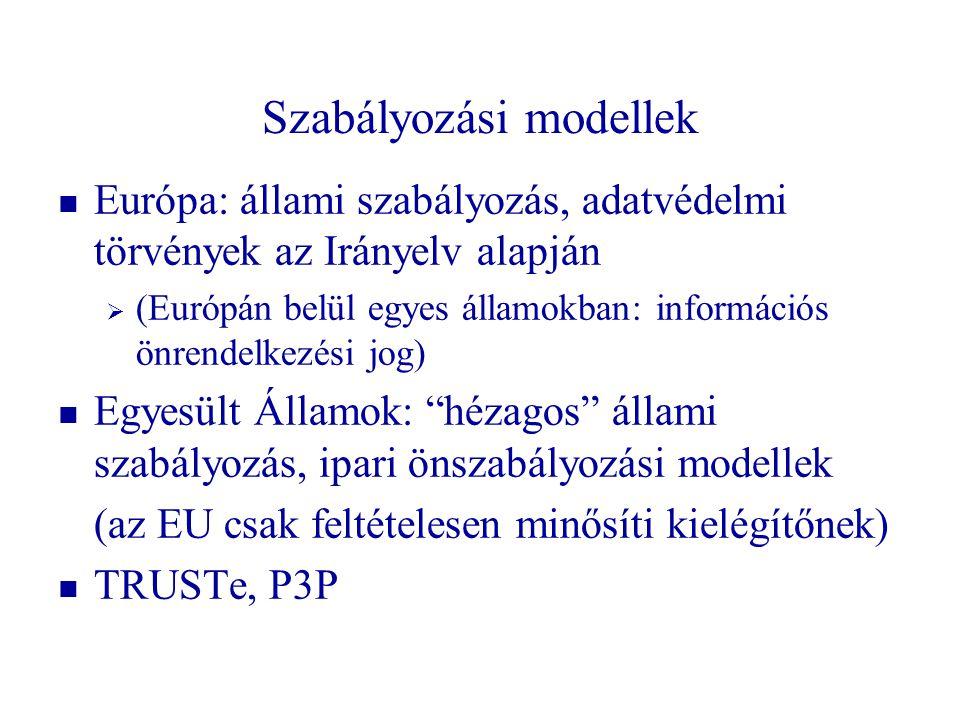 Szabályozási modellek