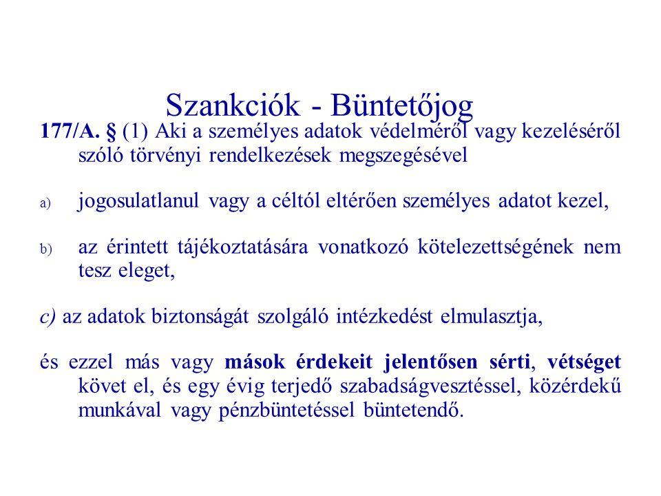 Szankciók - Büntetőjog