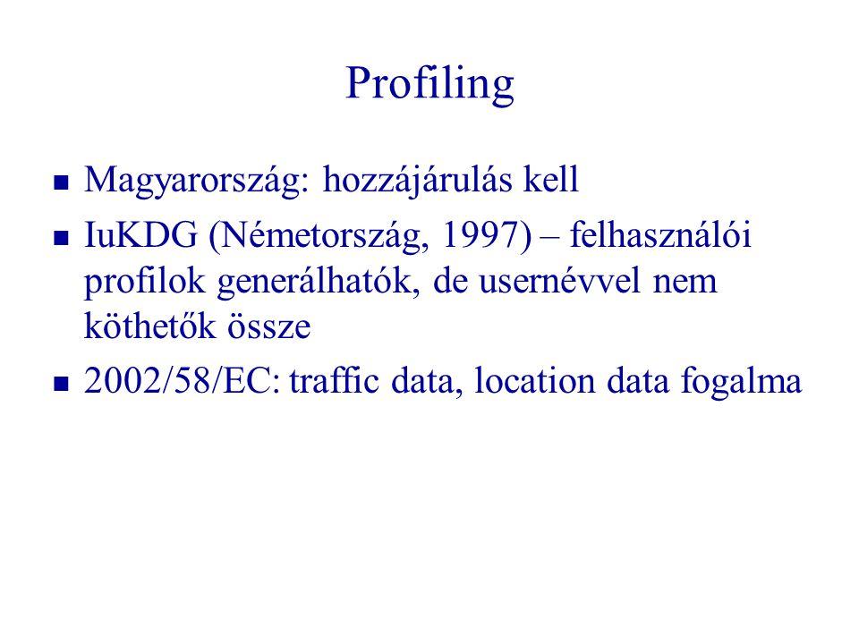 Profiling Magyarország: hozzájárulás kell