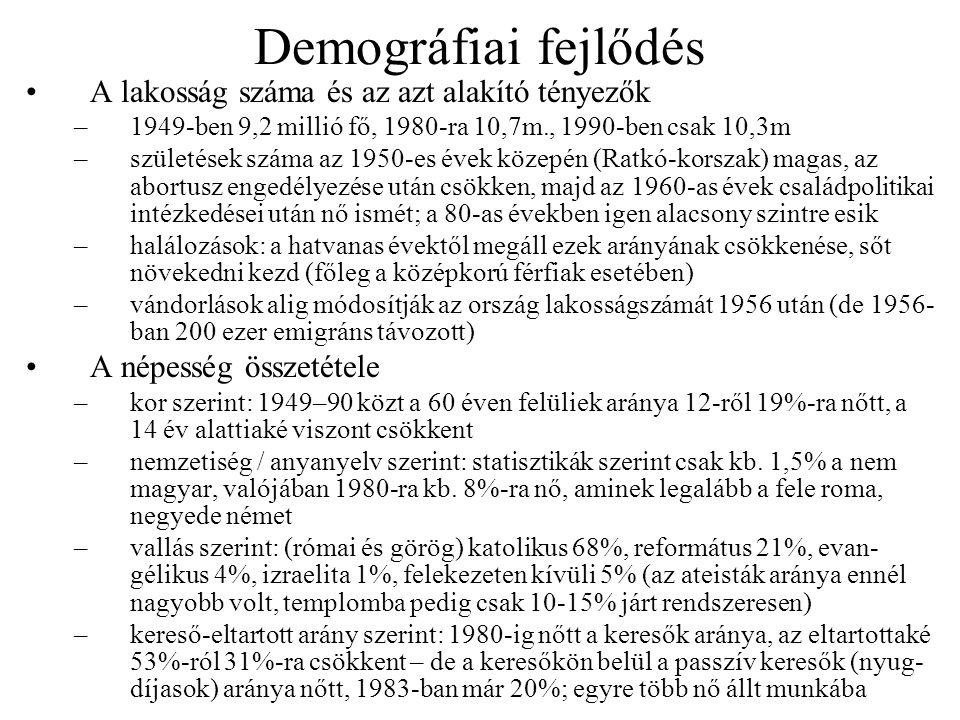 Demográfiai fejlődés A lakosság száma és az azt alakító tényezők