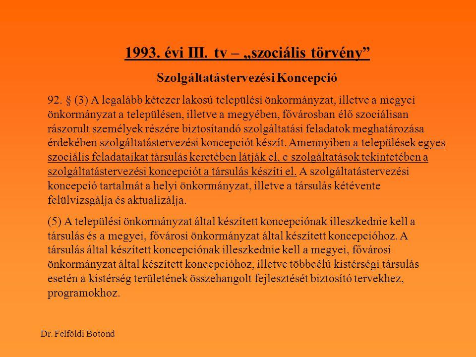 """1993. évi III. tv – """"szociális törvény"""