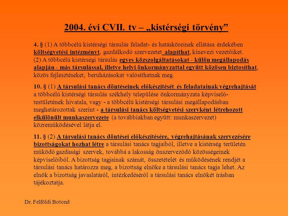 """2004. évi CVII. tv – """"kistérségi törvény"""