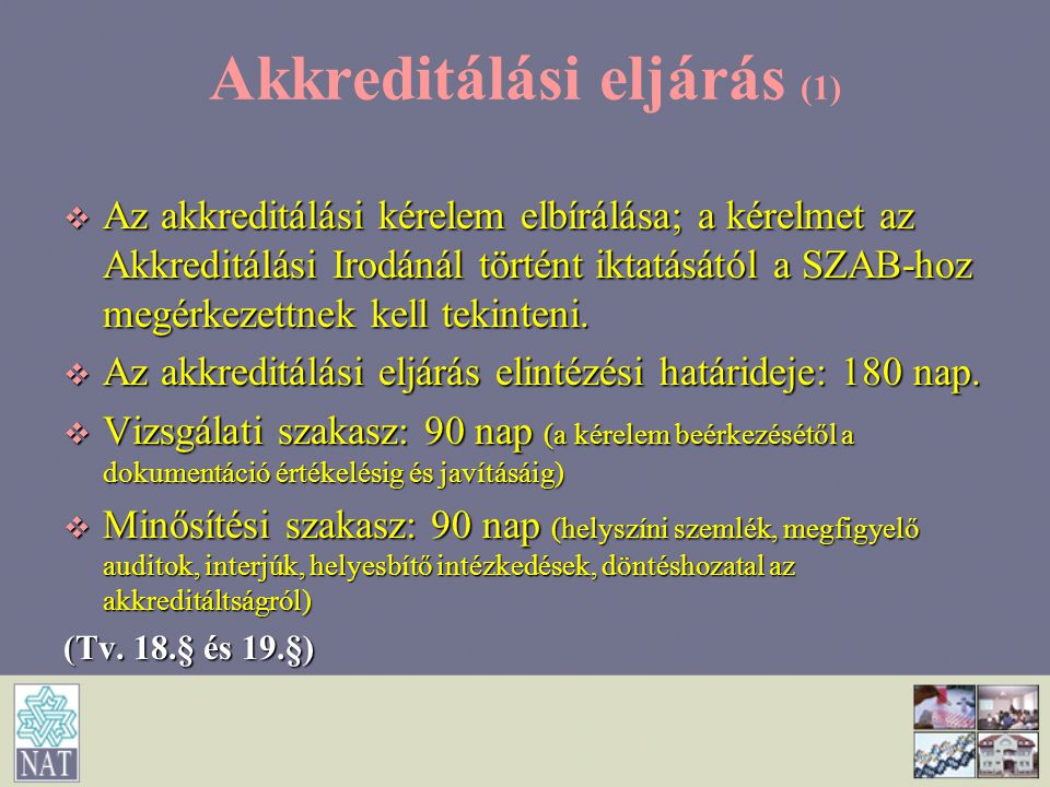 Akkreditálási eljárás (1)