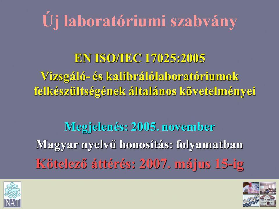 Új laboratóriumi szabvány