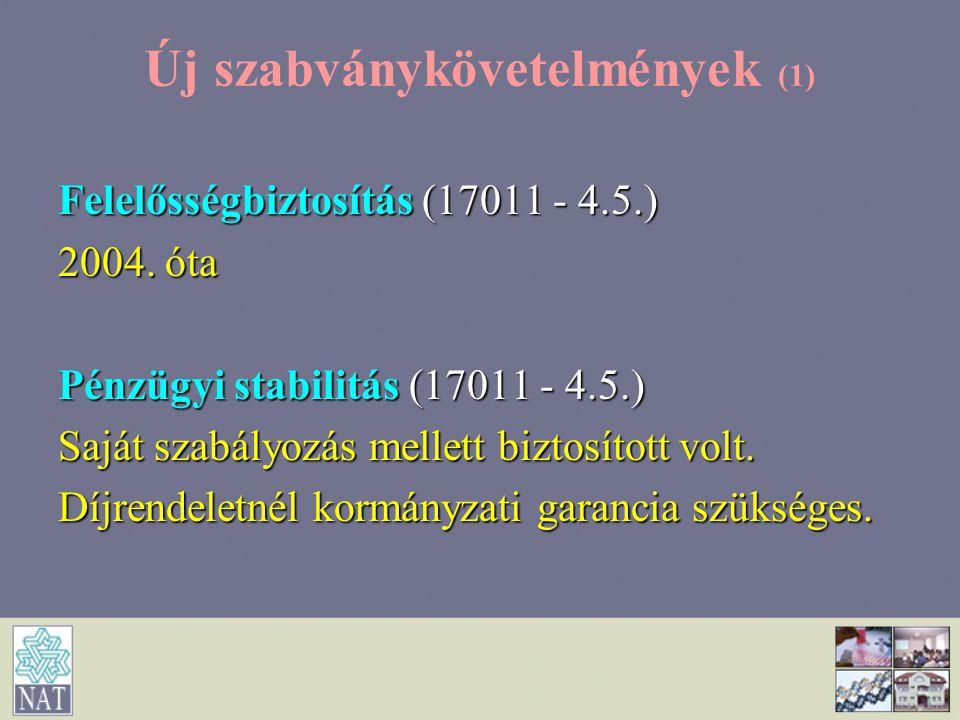 Új szabványkövetelmények (1)