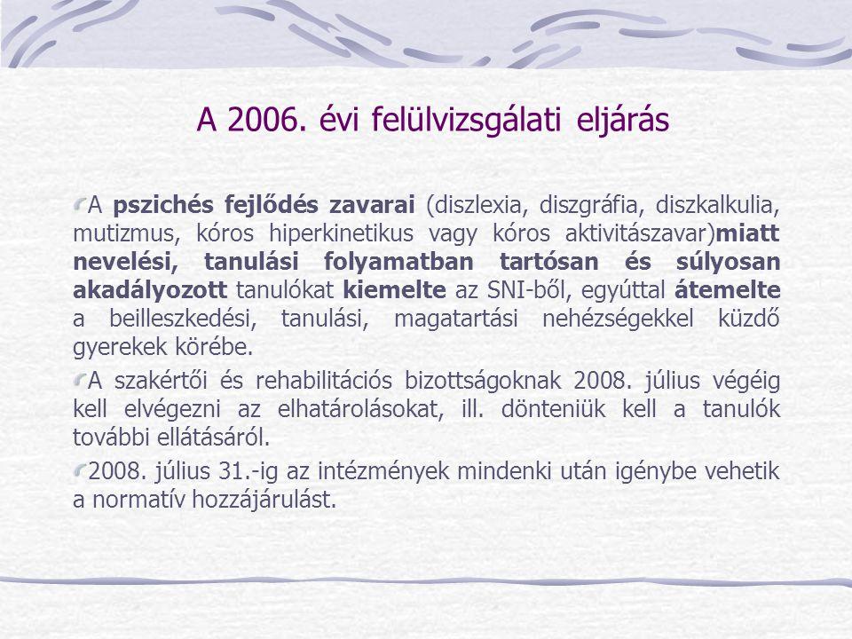 A 2006. évi felülvizsgálati eljárás