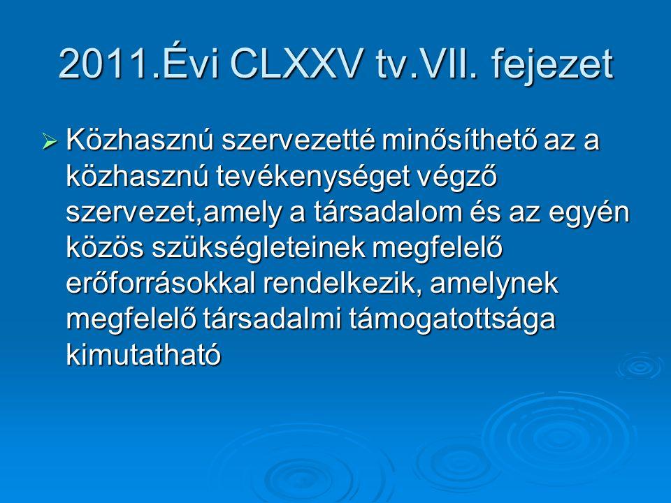 2011.Évi CLXXV tv.VII. fejezet
