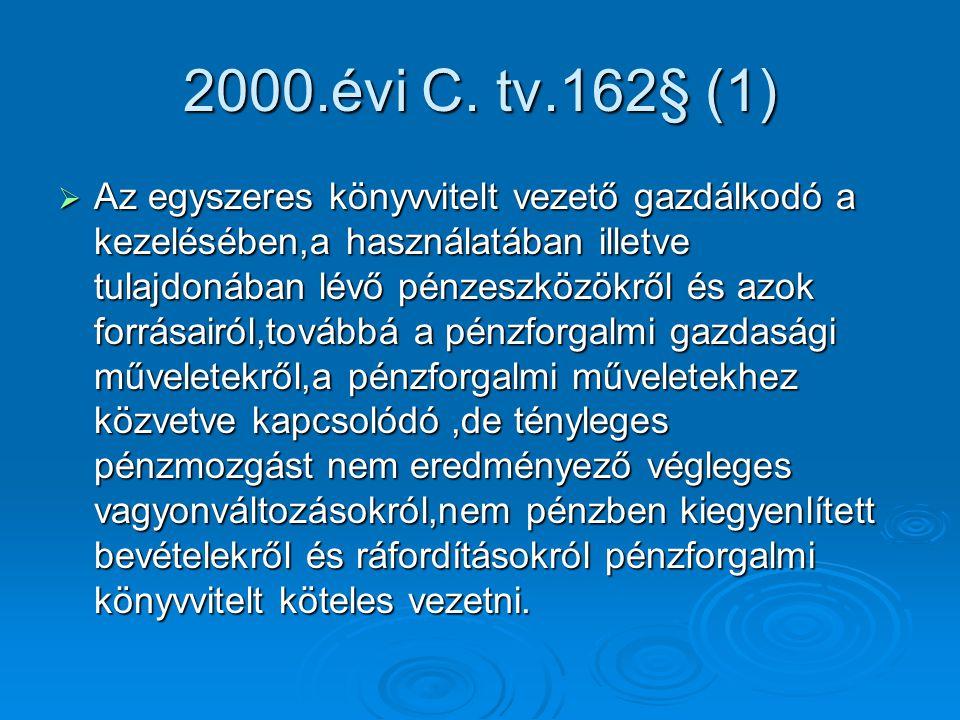 2000.évi C. tv.162§ (1)