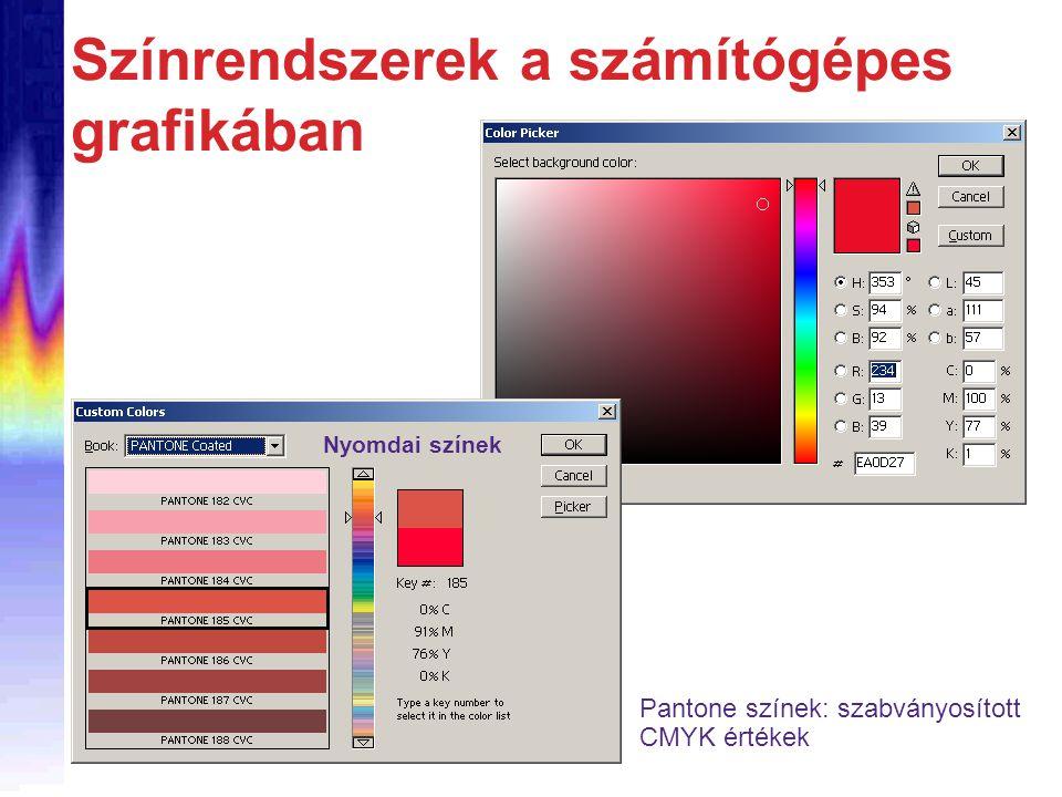 Színrendszerek a számítógépes grafikában