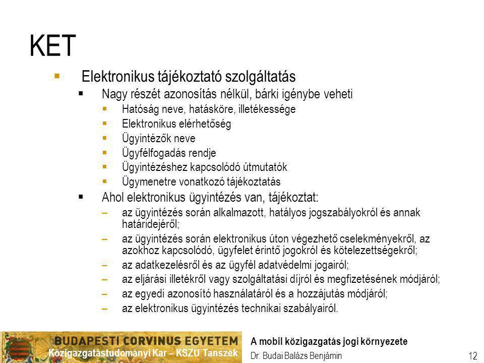 KET Elektronikus tájékoztató szolgáltatás