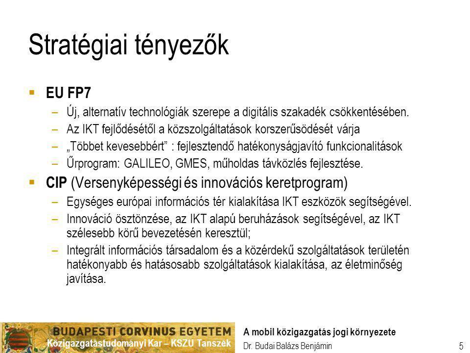 Stratégiai tényezők EU FP7