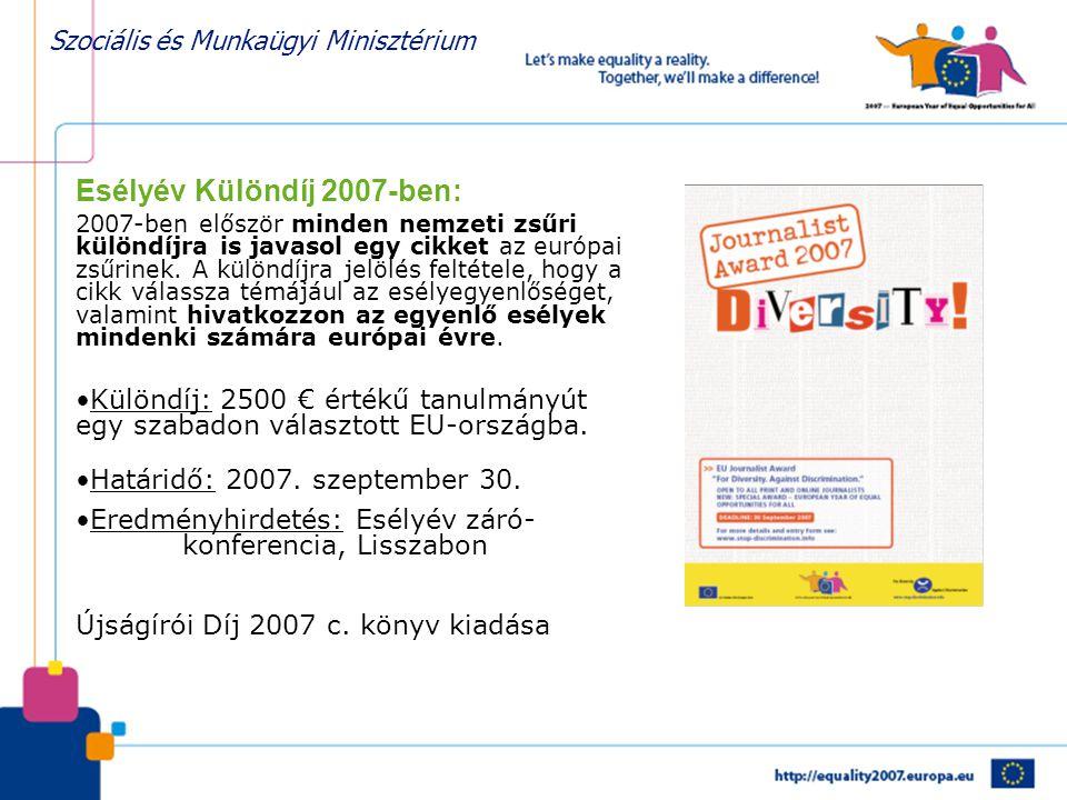Esélyév Különdíj 2007-ben: