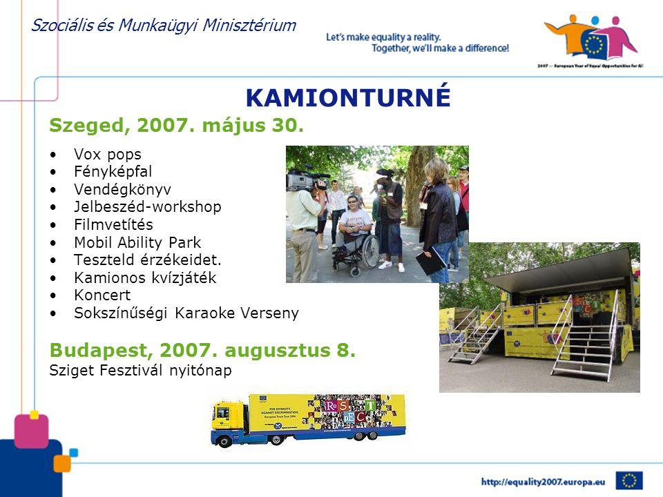 KAMIONTURNÉ Szeged, 2007. május 30. Budapest, 2007. augusztus 8.