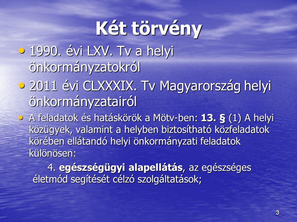 Két törvény 1990. évi LXV. Tv a helyi önkormányzatokról