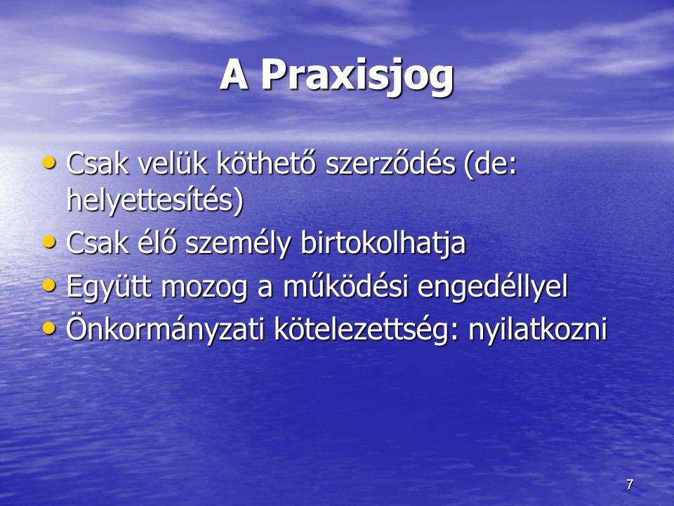 A Praxisjog Csak velük köthető szerződés (de: helyettesítés)