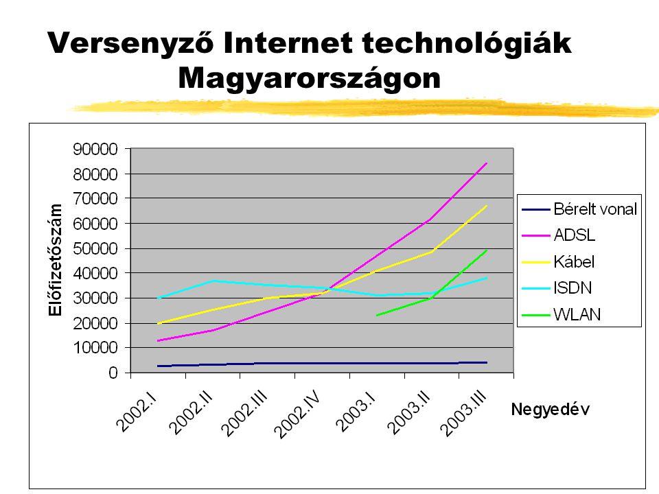 Versenyző Internet technológiák Magyarországon
