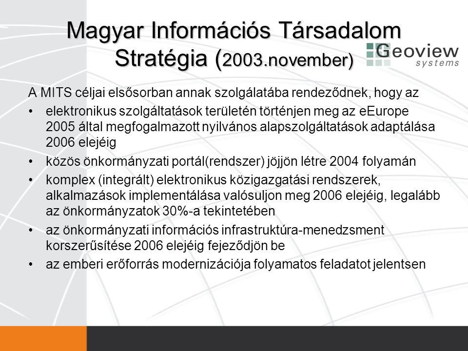 Magyar Információs Társadalom Stratégia (2003.november)