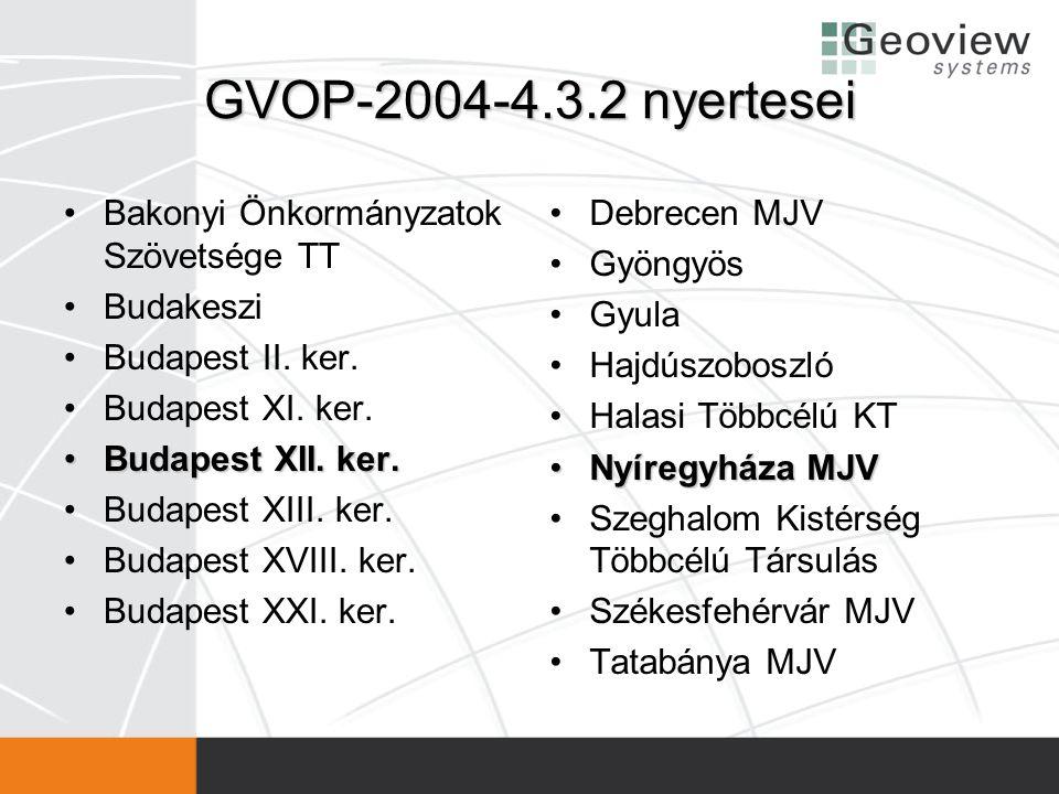 GVOP-2004-4.3.2 nyertesei Bakonyi Önkormányzatok Szövetsége TT