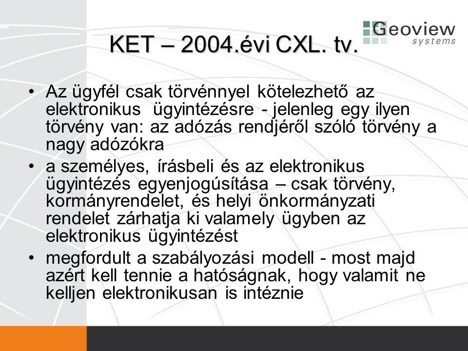 KET – 2004.évi CXL. tv.