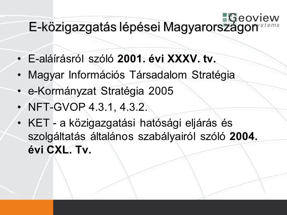 E-közigazgatás lépései Magyarországon
