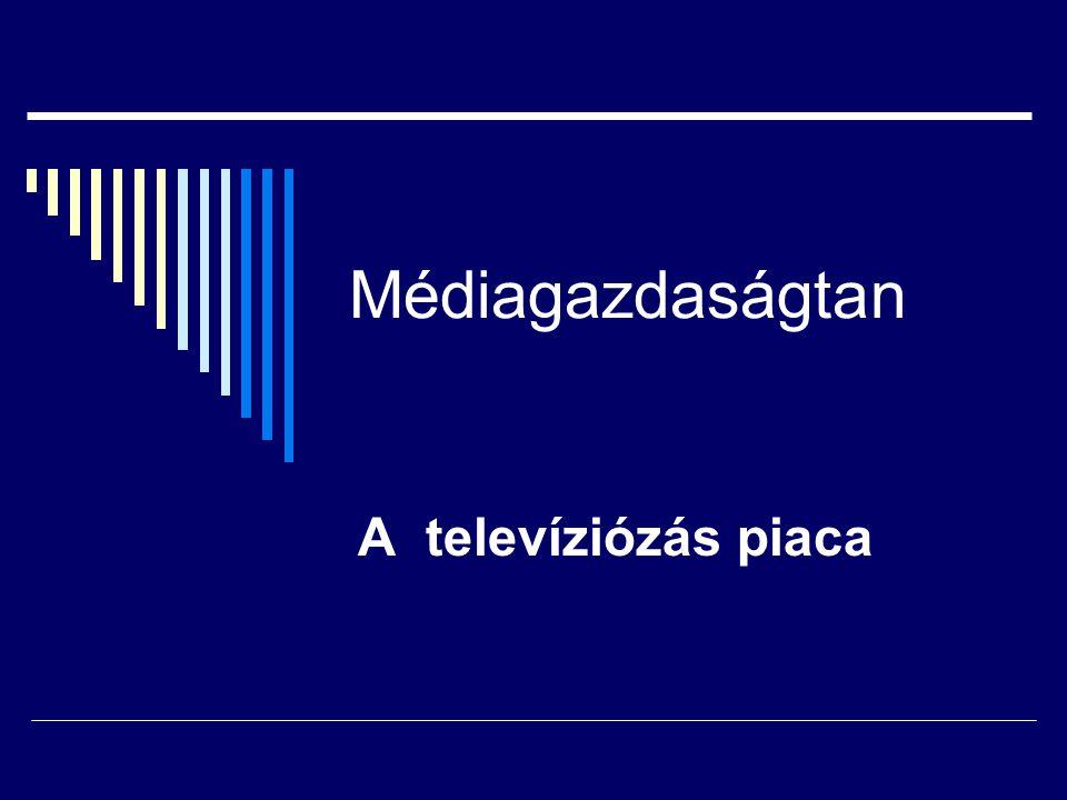 Médiagazdaságtan A televíziózás piaca