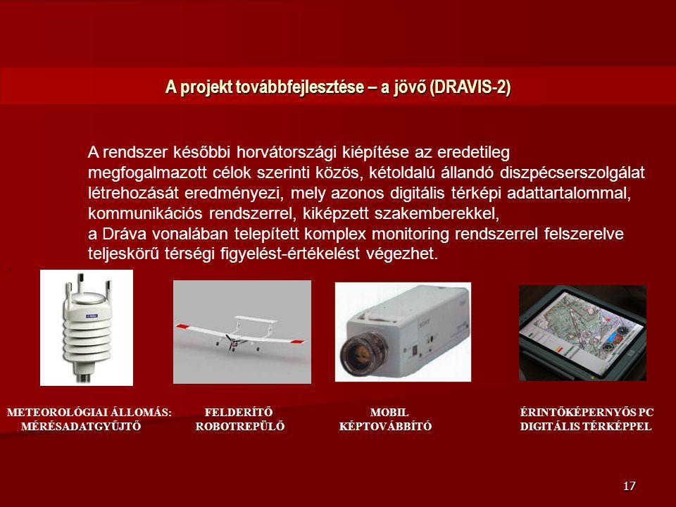 A projekt továbbfejlesztése – a jövő (DRAVIS-2)