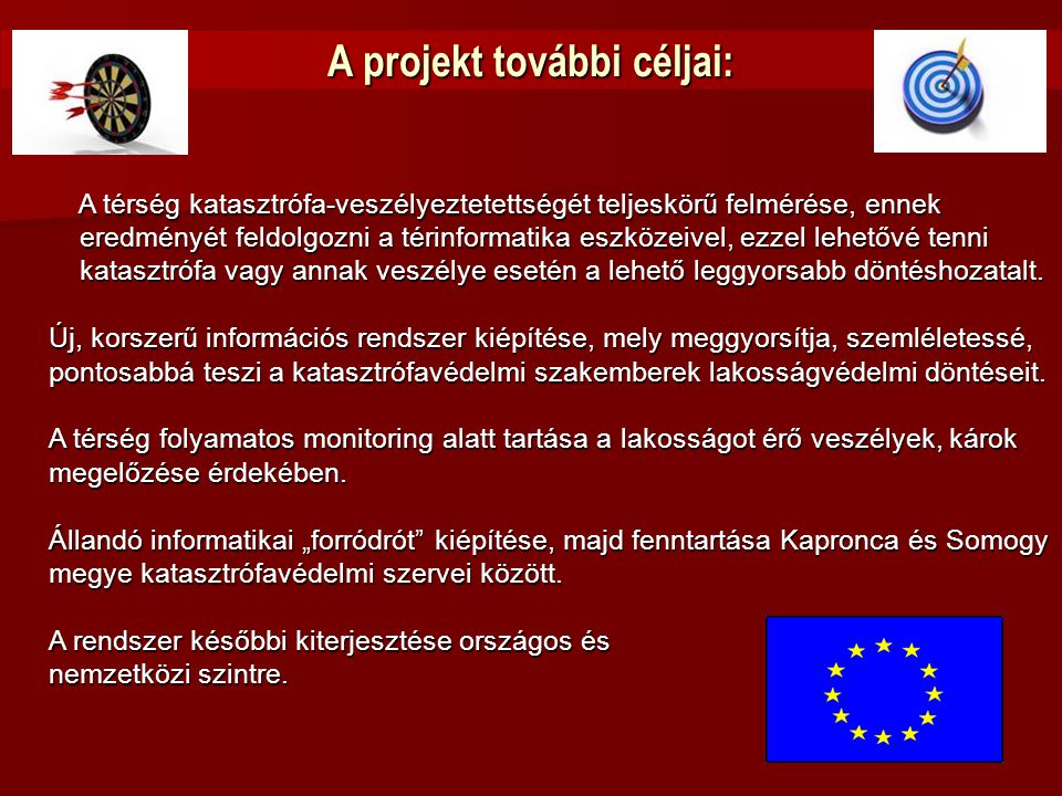 A projekt további céljai: