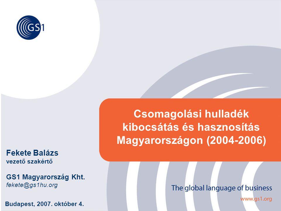 Csomagolási hulladék kibocsátás és hasznosítás Magyarországon (2004-2006)