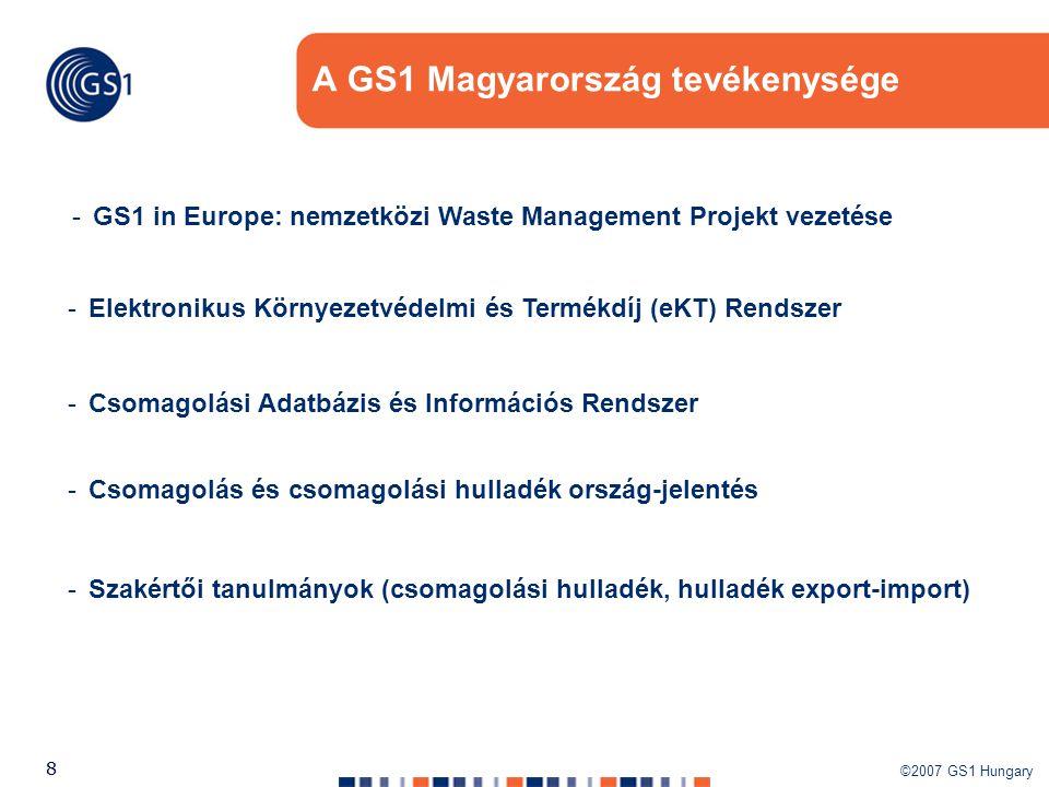 A GS1 Magyarország tevékenysége