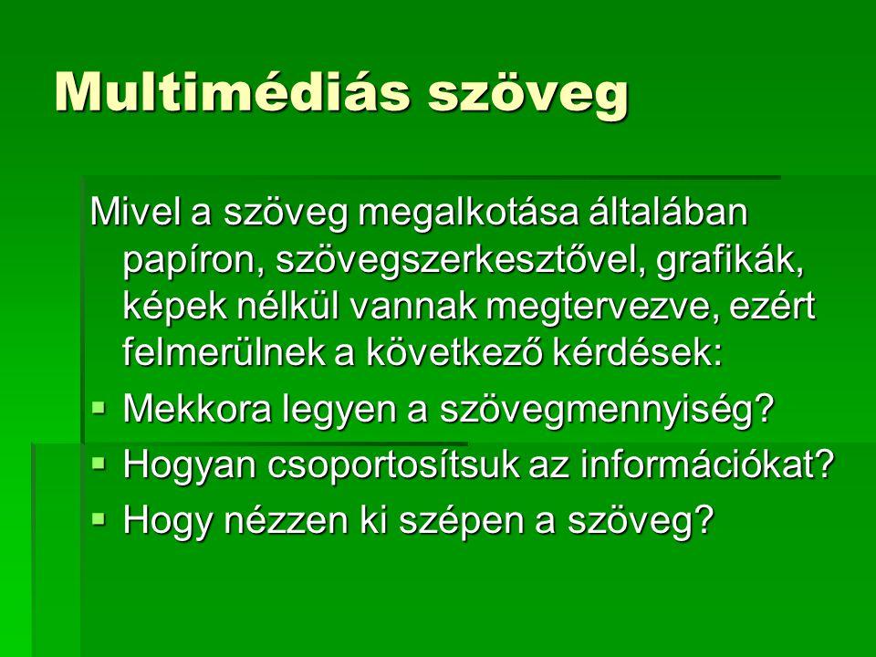 Multimédiás szöveg