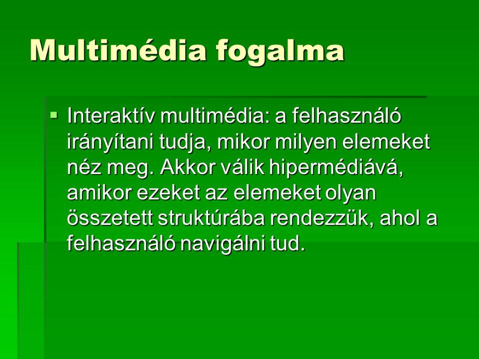 Multimédia fogalma