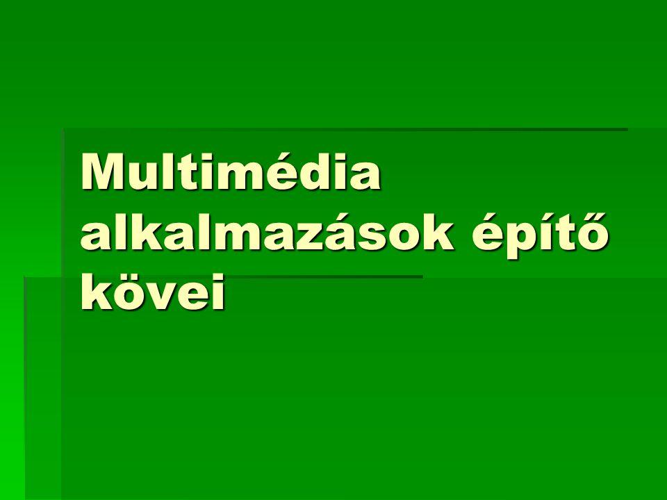 Multimédia alkalmazások építő kövei