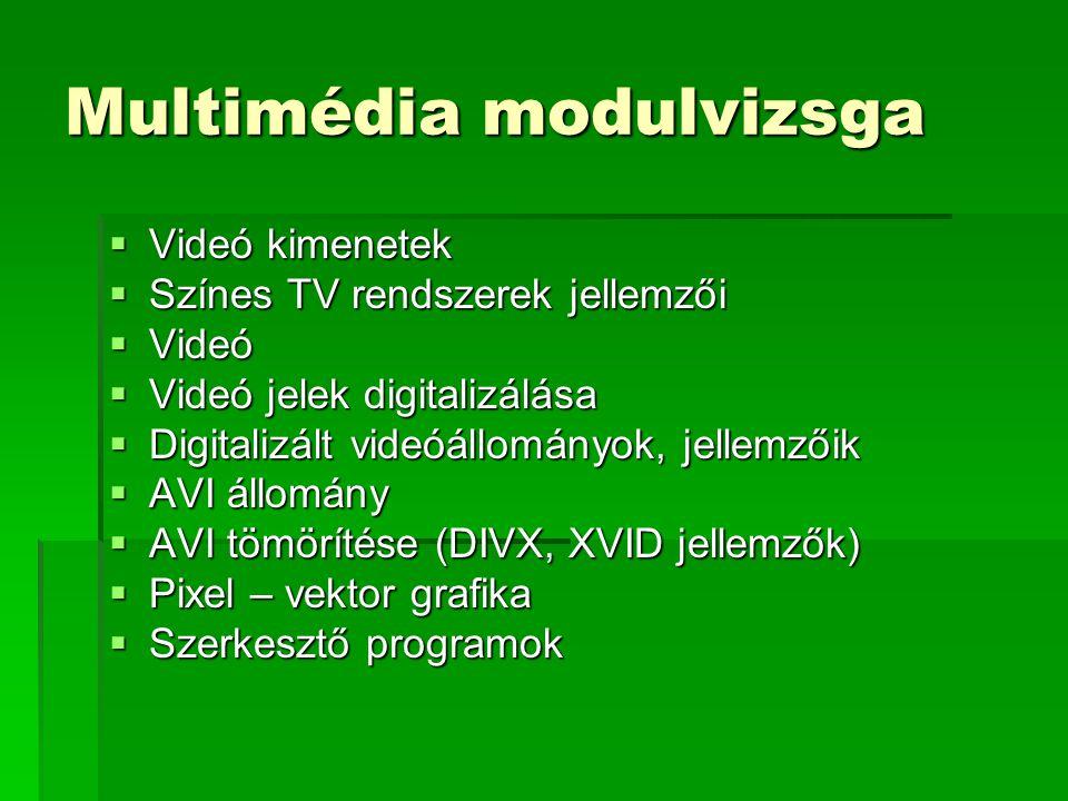 Multimédia modulvizsga