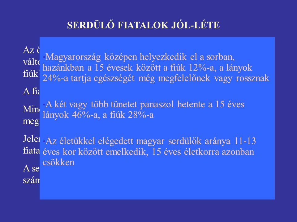 SERDÜLŐ FIATALOK JÓL-LÉTE