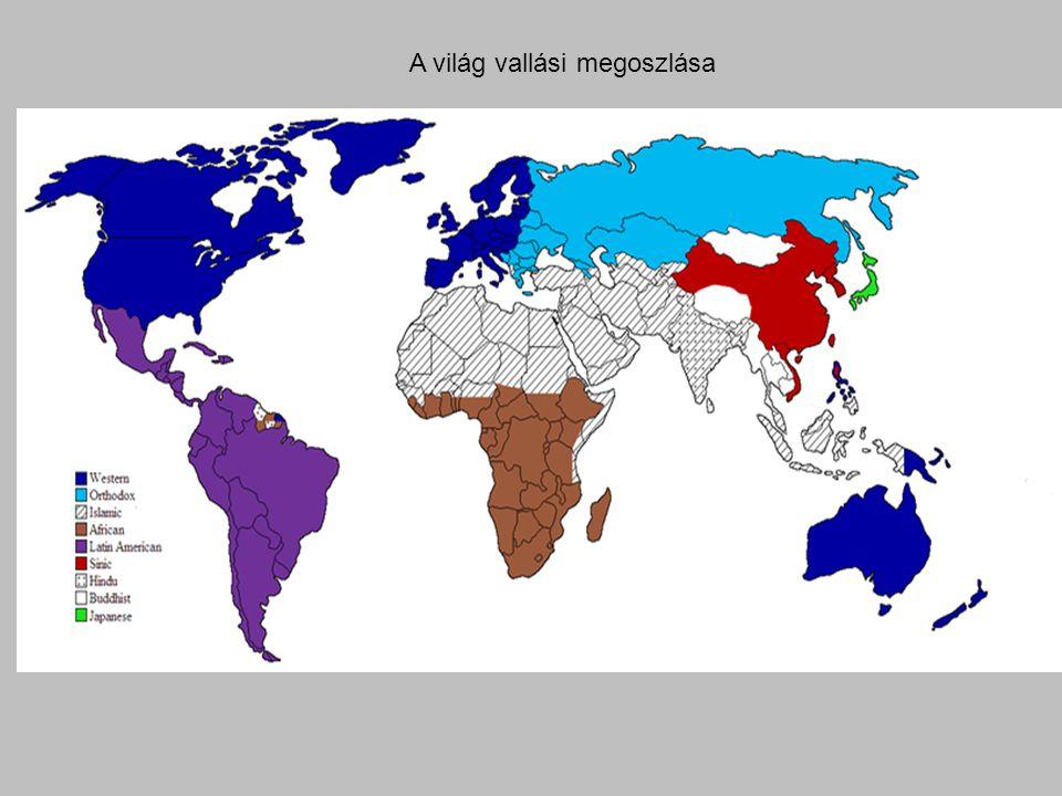 A világ vallási megoszlása