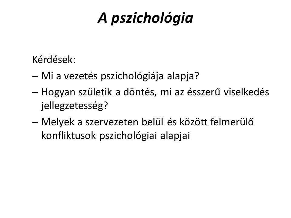 A pszichológia Kérdések: Mi a vezetés pszichológiája alapja