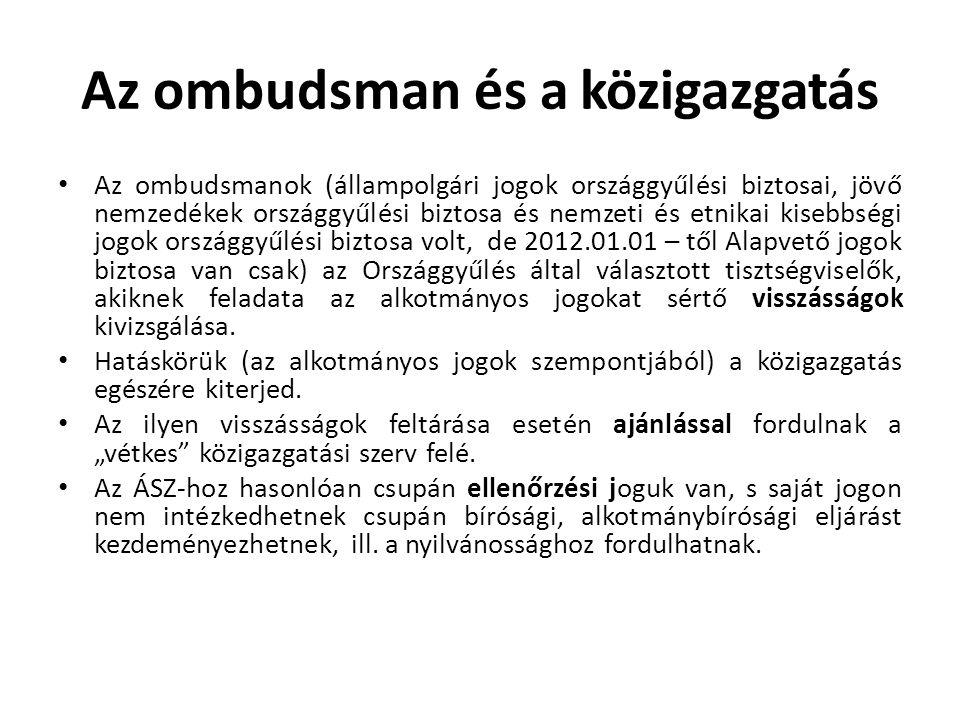 Az ombudsman és a közigazgatás