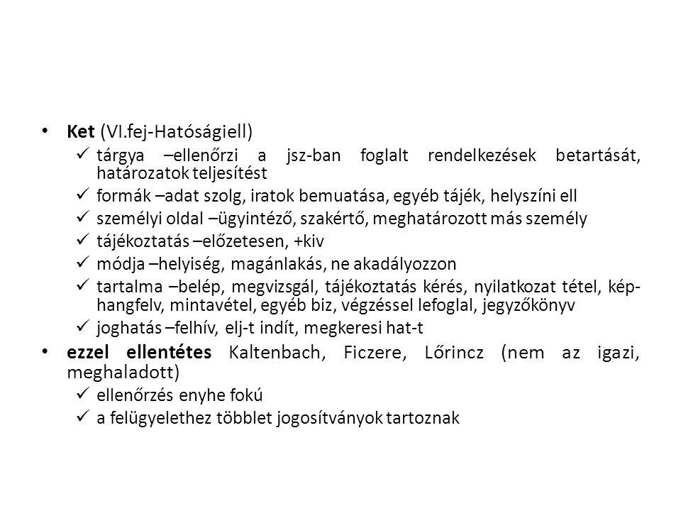 Ket (VI.fej-Hatóságiell)