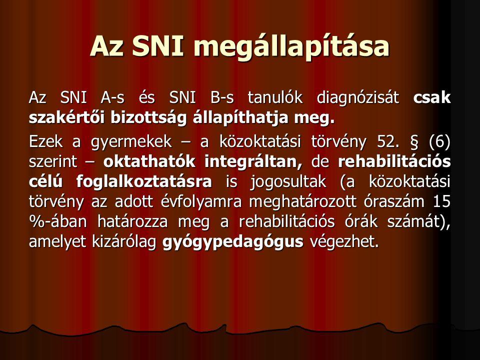 Az SNI megállapítása