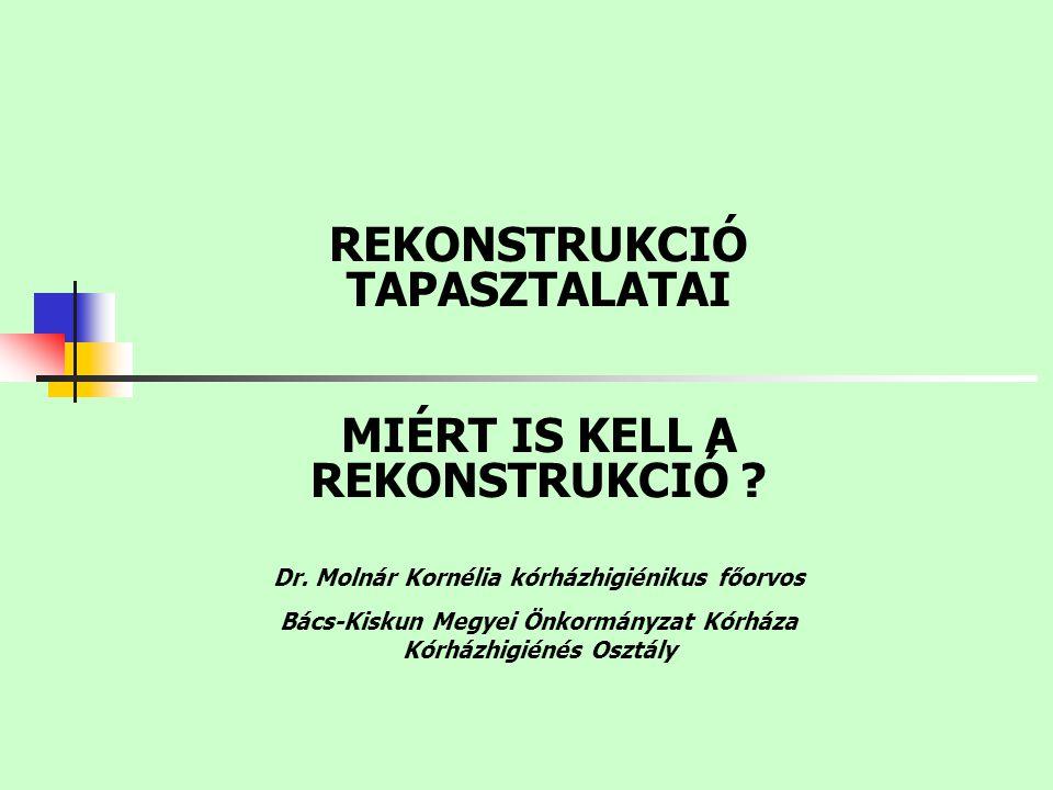 REKONSTRUKCIÓ TAPASZTALATAI MIÉRT IS KELL A REKONSTRUKCIÓ