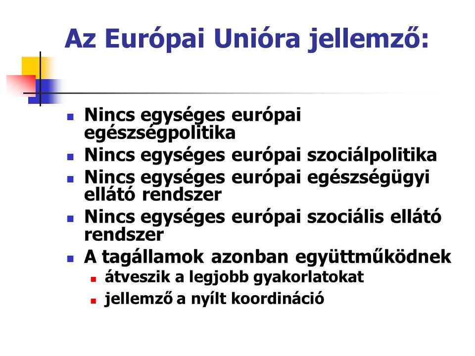 Az Európai Unióra jellemző: