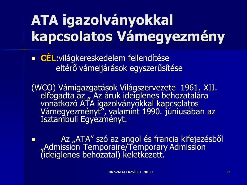 ATA igazolványokkal kapcsolatos Vámegyezmény