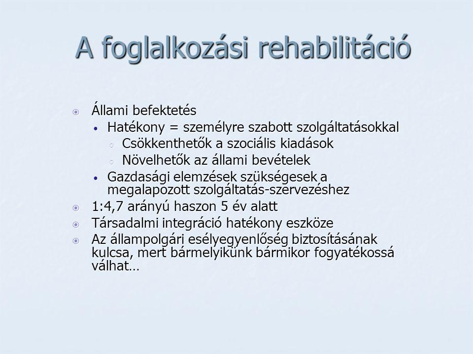 A foglalkozási rehabilitáció