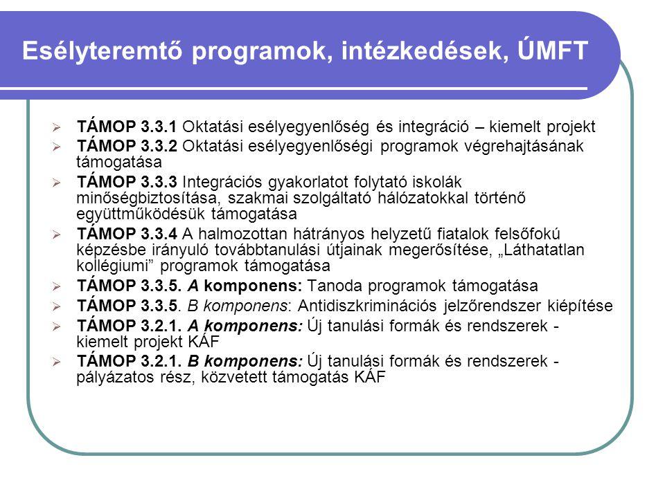 Esélyteremtő programok, intézkedések, ÚMFT