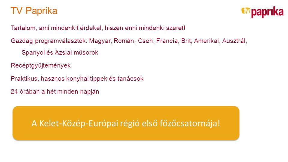 A Kelet-Közép-Európai régió első főzőcsatornája!