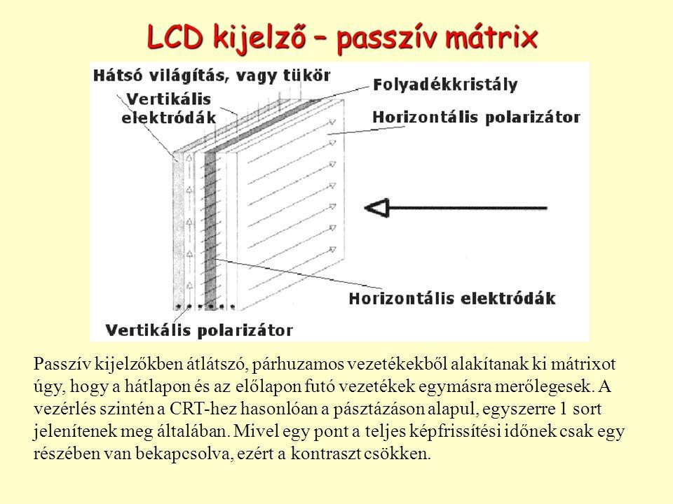 LCD kijelző – passzív mátrix