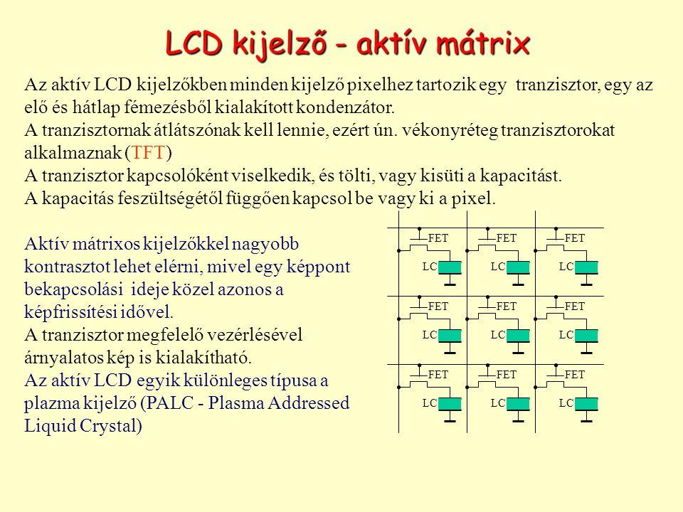LCD kijelző - aktív mátrix