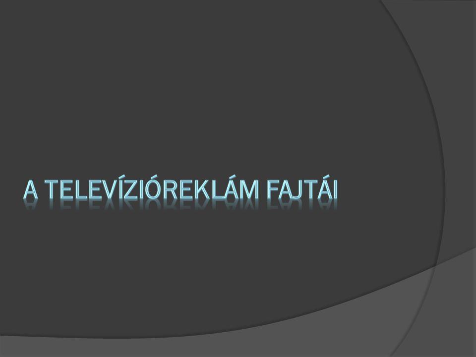 A televízióreklám fajtái