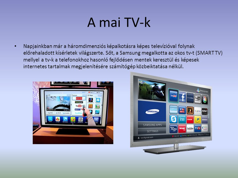 A mai TV-k