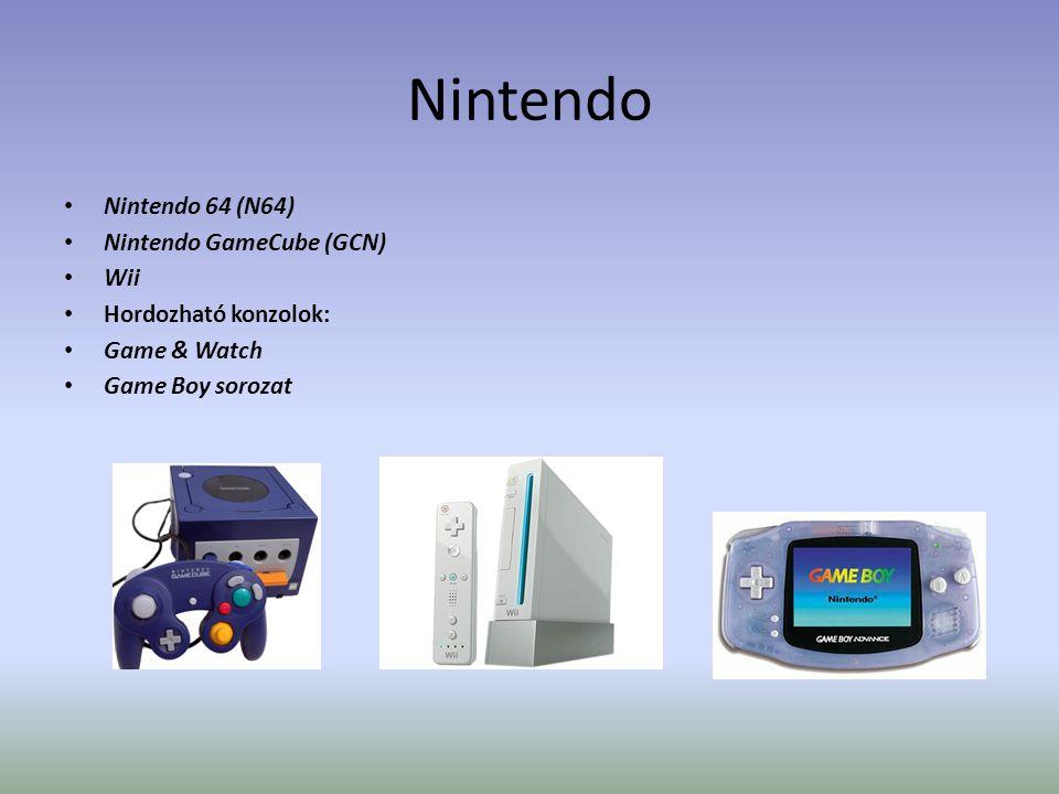 Nintendo Nintendo 64 (N64) Nintendo GameCube (GCN) Wii